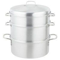 Vollrath 68125 Wear-Ever 5 Qt. 3-Tier Vegetable Steamer Set