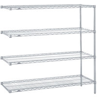 Metro AN356BR Super Erecta Brite Adjustable Wire Stationary Add-On Shelving Unit - 18 inch x 48 inch x 63 inch