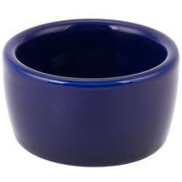Tuxton BCX-0203 2 oz. Cobalt Smooth China Pipkin Ramekin - 48/Case