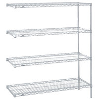 Metro AN326BR Super Erecta Brite Adjustable Wire Stationary Add-On Shelving Unit - 18 inch x 30 inch x 63 inch