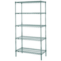 Metro 5N327K3 Super Erecta Metroseal 3 Adjustable Wire Stationary Starter Shelving Unit - 18 inch x 30 inch x 74 inch
