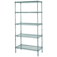 Metro 5N517K3 Super Erecta Metroseal 3 Adjustable Wire Stationary Starter Shelving Unit - 24 inch x 24 inch x 74 inch