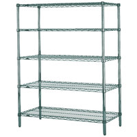 Metro 5N577K3 Super Erecta Metroseal 3 Adjustable Wire Stationary Starter Shelving Unit - 24 inch x 72 inch x 74 inch