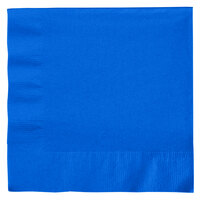 Creative Converting 663147B Cobalt 2-Ply 1/4 Fold Luncheon Napkin - 50/Pack