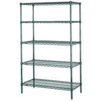 Metro 5N357K3 Super Erecta Metroseal 3 Adjustable Wire Stationary Starter Shelving Unit - 18 inch x 48 inch x 74 inch