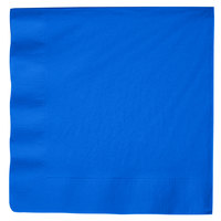 Cobalt Blue 3-Ply Dinner Napkin, Paper - Creative Converting 593147B - 25/Pack