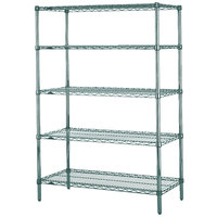 Metro 5N367K3 Super Erecta Metroseal 3 Adjustable Wire Stationary Starter Shelving Unit - 18 inch x 60 inch x 74 inch