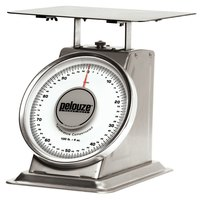 Rubbermaid Pelouze 10100S 100 lb. Mechanical Receiving Scale - Stainless Steel (FG10100S)