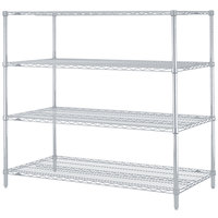 Metro N566BR Super Erecta Brite Adjustable Wire Stationary Starter Shelving Unit - 24 inch x 60 inch x 63 inch