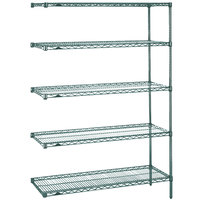 Metro 5AN327K3 Super Erecta Metroseal 3 Adjustable Wire Stationary Add-On Shelving Unit - 18 inch x 30 inch x 74 inch