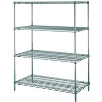 Metro N516K3 Super Erecta Metroseal 3 Adjustable Wire Stationary Starter Shelving Unit - 24 inch x 24 inch x 63 inch