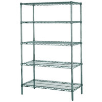 Metro 5N557K3 Super Erecta Metroseal 3 Adjustable Wire Stationary Starter Shelving Unit - 24 inch x 48 inch x 74 inch