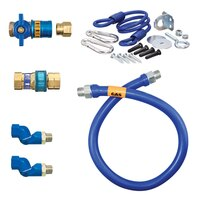 48 inch Dormont 1675KITCF2S Safety Quik Gas Appliance Connector Kit with SwivelMax Deluxe - 3/4 inch Diameter