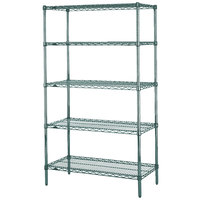 Metro 5N547K3 Super Erecta Metroseal 3 Adjustable Wire Stationary Starter Shelving Unit - 24 inch x 42 inch x 74 inch