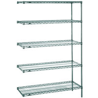 Metro 5AN317K3 Super Erecta Metroseal 3 Adjustable Wire Stationary Add-On Shelving Unit - 18 inch x 24 inch x 74 inch