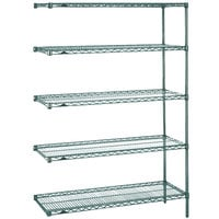 Metro 5AN427K3 Super Erecta Metroseal 3 Adjustable Wire Stationary Add-On Shelving Unit - 21 inch x 30 inch x 74 inch