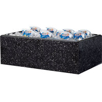 Cal-Mil 473-12-17 Granite Charcoal Acrylic Ice Housing with Clear Pan - 20 inch x 12 inch x 6 inch