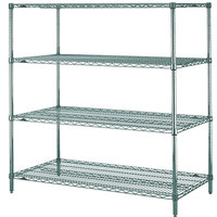 Metro N556K3 Super Erecta Metroseal 3 Adjustable Wire Stationary Starter Shelving Unit - 24 inch x 48 inch x 63 inch