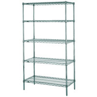 Metro 5N337K3 Super Erecta Metroseal 3 Adjustable Wire Stationary Starter Shelving Unit - 18 inch x 36 inch x 74 inch