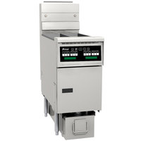 Pitco SG14RS-1FD-C Solstice Natural Gas 40-50 lb. SoloFilter Floor Fryer with Intellifry Computer Controls and Filter Drawer - 122,000 BTU
