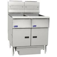 Pitco SG14RS-2FD-M Solstice Liquid Propane 80-100 lb. 2 Unit Floor Fryer System with Millivolt Controls and Filter Drawer - 244,000 BTU