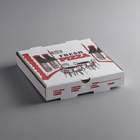 Choice 10 inch x 10 inch x 2 inch White Corrugated Pizza Box - 50/Case