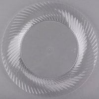 Visions Wave 9 inch Clear Plastic Plate - 18/Pack