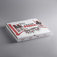 Choice 18 inch x 18 inch x 1 7/8 inch White Corrugated Pizza Box - 50/Case