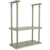 Advance Tabco DCM-18-36 Stainless Steel Ceiling Mounted Double Shelf - 18 inch x 36 inch