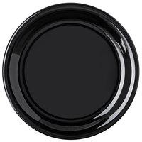 Carlisle 4300803 Durus 6 1/2 inch Black Narrow Rim Melamine Plate - 48/Case