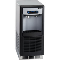 Follett 7UD100A-IW-CF-ST-00 7 Series ADA Height 14 5/8 inch Air Cooled Chewblet Undercounter Ice Maker and Water Dispenser with Filter - 7 lb.