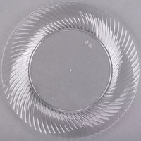 Visions Wave 6 inch Clear Plastic Plate - 18/Pack