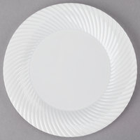 Visions Wave 6 inch Bone / Ivory Plastic Plate   - 180/Case