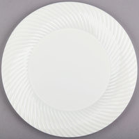 Visions Wave 10 inch Bone / Ivory Plastic Plate - 18/Pack
