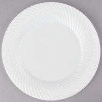 Visions Wave 9 inch Bone / Ivory Plastic Plate   - 180/Case