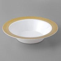 Gold Visions 12 oz. White Bowl with Gold Lattice Design   - 150/Case
