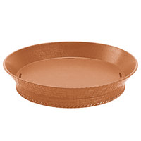 GET RB-880-TER 10 1/2 inch Terracotta Round Plastic Fast Food Basket with Base - 12/Pack