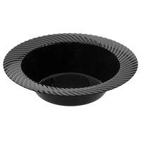 Visions Wave 6 oz. Black Plastic Bowl - 18/Pack