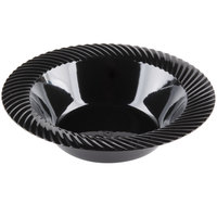 Visions Wave 12 oz. Black Plastic Bowl - 18/Pack