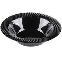 Visions Wave 12 oz. Black Plastic Bowl - 18/Pack