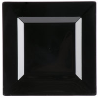 Visions Florence 6 inch Square Black Plastic Plate - 10/Pack