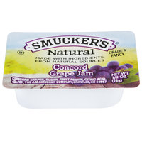 Smucker's Natural Concord Grape Jam .5 oz. Portion Cup - 200/Case