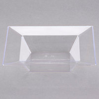 Visions Florence 5 oz. Clear Square Plastic Bowl - 10/Pack