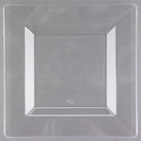Visions Florence 8 inch Square Clear Plastic Plate - 10/Pack