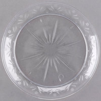 Choice Crystal 6 inch Clear Plastic Plate - 20/Pack ... & Clear Plastic Plates | Clear Disposable Plates