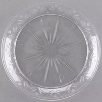 "Choice Crystal 6"" Clear Plastic Plate - 20/Pack"