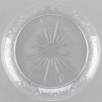 Choice Crystal 6 inch Clear Plastic Plate - 20/Pack