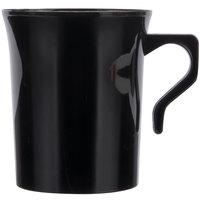 Visions 8 oz. Black Plastic Coffee Mug - 8/Pack