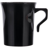Visions 8 oz. Black Plastic Coffee Mug - 192/Case