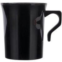 Visions 8 oz. Black Plastic Coffee Mug - 192/Case
